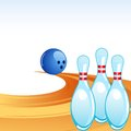 Vector illustration of bowling pin on alley Royalty Free Stock Photo