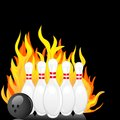 Vector illustration bowling pin ball Stock Images