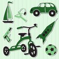 Vector illustration of boy toys Stock Photography