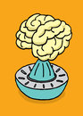 Vector illustration of brain juice maker stress Royalty Free Stock Photography