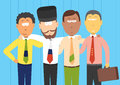 Vector illustration of bric businessmen brazil russia india and china Stock Image