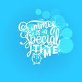 Vector illustration Brush lettering composition of Summer quotes on white background. Summer lettering for cards