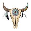 Vector Illustration Bull Skull...