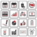 Vector illustration business icons Royalty Free Stock Photo