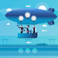 Vector illustration of business people having new ideas, flat style