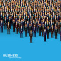 Vector illustration of business or politics community. a crowd of business men or politicians wearing suits and ties. Royalty Free Stock Photo