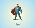 Vector illustration of businessman superhero