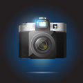 Vector illustration of camera retro Stock Image