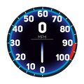 Vector Illustration Car speedometer dashboard icon. Speed meter fast race technology design and measurement panel.