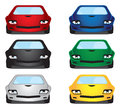 Vector illustration Cars Royalty Free Stock Photo