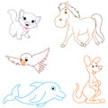 Vector Illustration Of Cartoon Animals