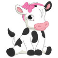 Vector Illustration Of Cartoon Baby Calf
