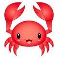 Vector Illustration Cartoon Cute Kawaii Chibi Crab