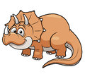 Vector illustration cartoon dinosaur Royalty Free Stock Image