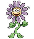 Vector illustration of cartoon flower dance Stock Image