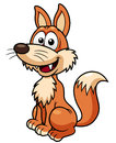Vector illustration cartoon fox Royalty Free Stock Images