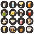 Vector cartoon non alcoholic drinks Royalty Free Stock Photo