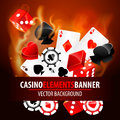 Vector illustration of casino elements this is file eps format Royalty Free Stock Image
