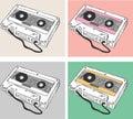 Vector Illustration Cassette Tape Collection