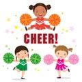 Vector Illustration Of Cheerle...