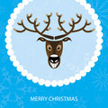 Vector illustration. Christmas card with reindeer Royalty Free Stock Photos