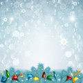 Vector illustration of Christmas snow background Royalty Free Stock Photo
