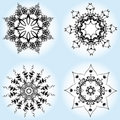 Vector illustration of Christmas snowflake Royalty Free Stock Images