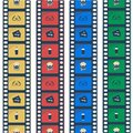 stock image of  Cinema flat stile icons.Film Strip