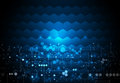 Vector illustration circuit board on hexagons background. Hi-tech digital technology and engineering Royalty Free Stock Photo