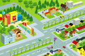 Vector illustration city map Stock Image