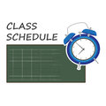 Vector illustration of class schedule Royalty Free Stock Photo
