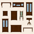 A vector illustration of classic furniture. Pieces of furniture