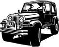 Classic Jeep Illustration Royalty Free Stock Photo