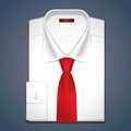 Vector illustration of a classic white shirt Royalty Free Stock Photo