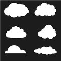 Vector illustration of clouds collection. White Royalty Free Stock Photo
