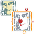 Vector illustration - clown and joker face