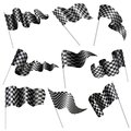 Vector illustration collection checkered flag Stock Photos