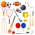 Vector illustration collection different sports icon Stock Images