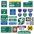 Traffic Guide Signs in the United States Royalty Free Stock Photo