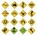 Vector illustration collection select traffic signs united states isolated white background you can find other road signs my Royalty Free Stock Images
