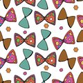 Vector Illustration colorful bow-tie seamless pattern on white background