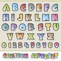 Vector illustration of colorful cartoon alphabet for design elements grouped and layered for easy editing Stock Photo