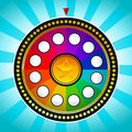 Vector illustration colorful game wheel fortune Royalty Free Stock Photos