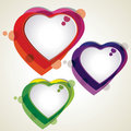 Vector illustration of colorful heart shapes Stock Image