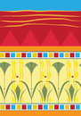 Vector illustration colorful papyrus pattern eps Royalty Free Stock Photo