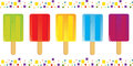 Vector illustration colorful popsicles icons colorful border eps Stock Image