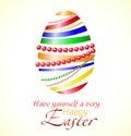 Vector illustration of colorful ribbon Easter egg