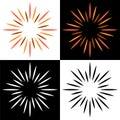 Sparkles starburst sunburst colorful logos