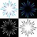Sparkles starburst sunburst colorful logos Royalty Free Stock Photo