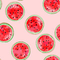 Vector illustration of colorful watermelon seamless pattern Royalty Free Stock Photo